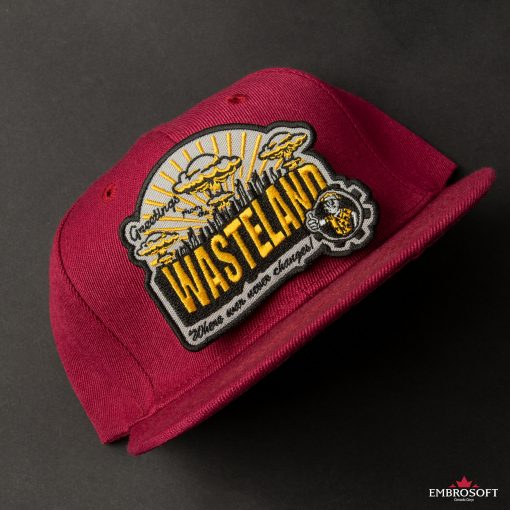 Wasteland embroidered emblem patch red cap