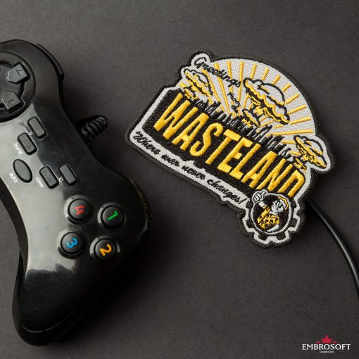 Wasteland embroidered patch with joystick