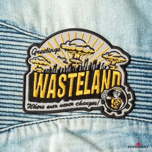 Wasteland fallout game cool patches for jeans jackets