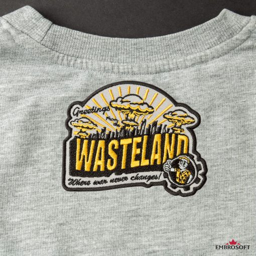 Wasteland game fans embroidery gray jacket