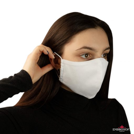White face mask for men and women