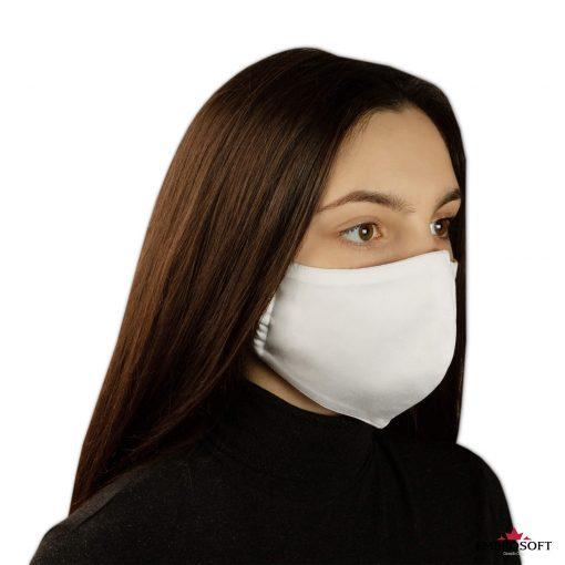 White face mask model girl