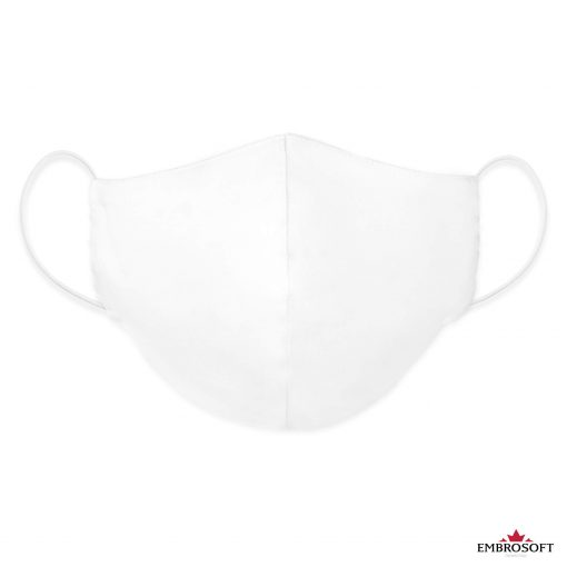 White mouth mask frontal