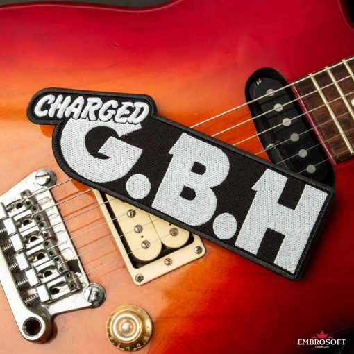 G.B.H. Charged band emblem embroidered guitar
