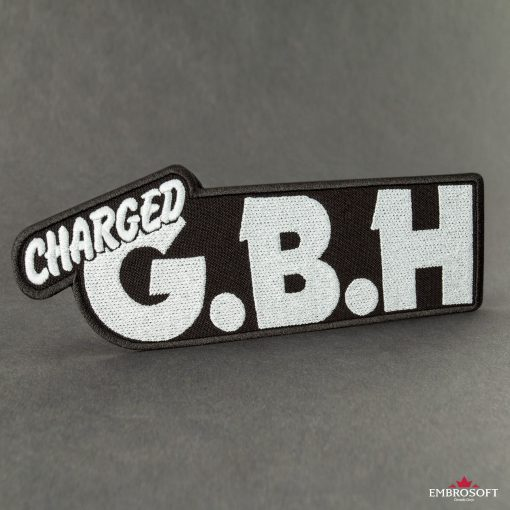 G.B.H. Charged embroidered Logo patch background