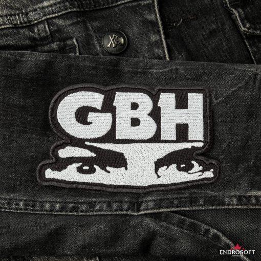 G.B.H. Charles Manson Logo LARGE sleeve jeans