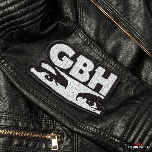 G.B.H. Charles Manson Logo LARGE sleeve leather