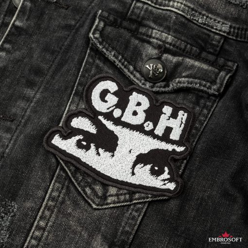 G.B.H. Charles Manson Logo SMALL front jeans jacket
