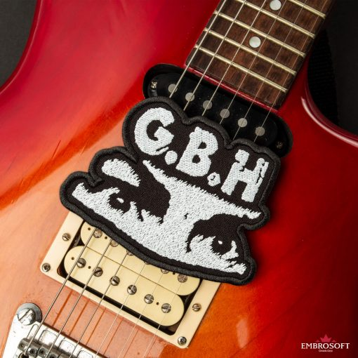 G.B.H. Charles Manson Logo SMALL guitar