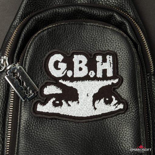 G.B.H. Charles Manson Logo SMALL leather bag