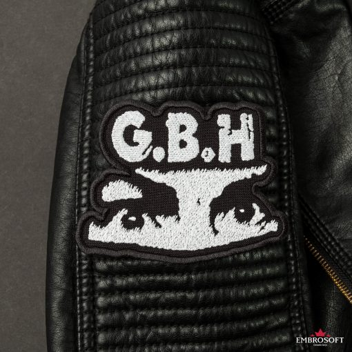 G.B.H. Charles Manson Logo SMALL sleeve leather jacket