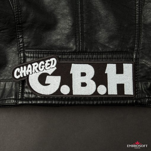 GBH Charged Logo embroidery back Leather Jacket