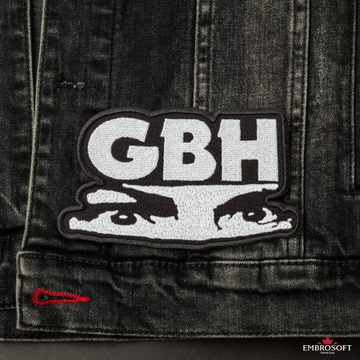 GBH Charles Manson eyes Logo LARGE patch front jeans