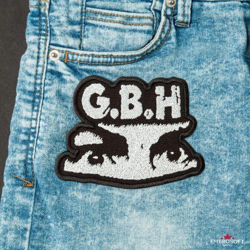 GBH Charles Manson eyes Logo SMALL patches for jeans