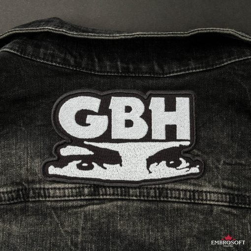 GBH Charles Manson eyes Logo patch LARGE back jeans