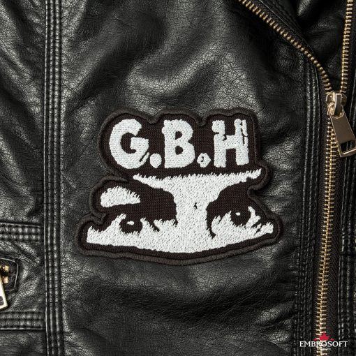 GBH Charles Manson eyes emblem embroidered for clothes SMALL front leather jacket