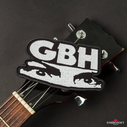 GBH Charles Manson eyes emblem patches LARGE guitar