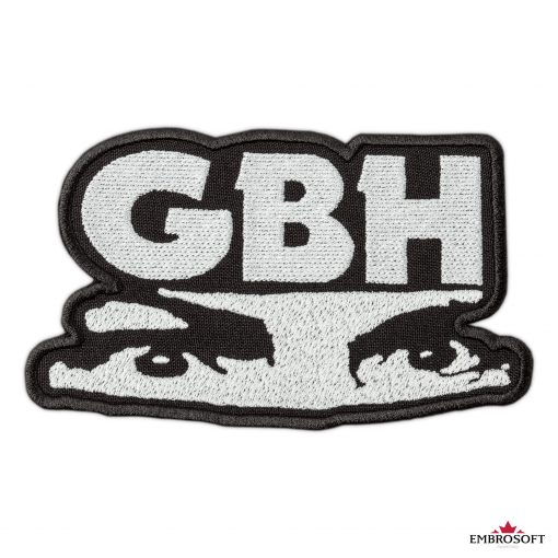 GBH Charles Manson eyes embroidered Logo LARGE frontal