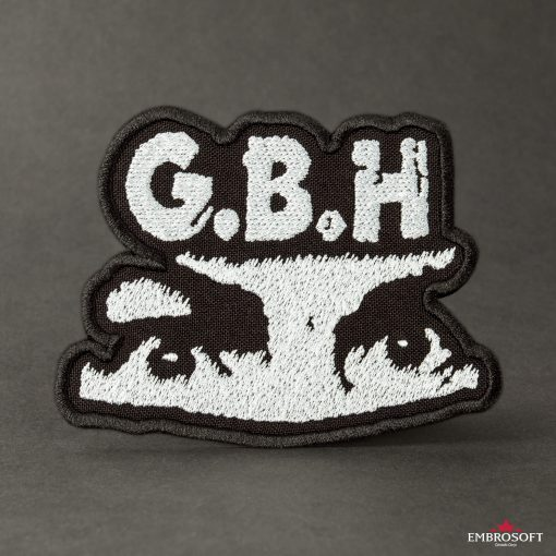 GBH Charles Manson eyes embroidered Logo SMALL black background