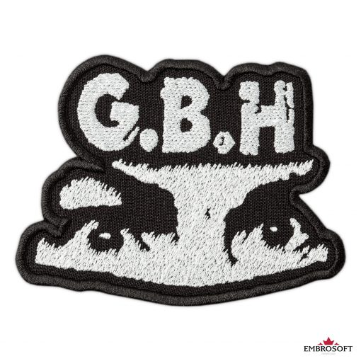GBH Charles Manson eyes rock band Logo embroidery SMALL frontal