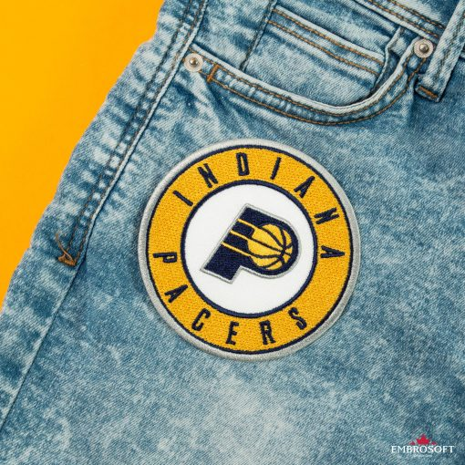 Indiana Pacers NBA Logo embroidery front jeans