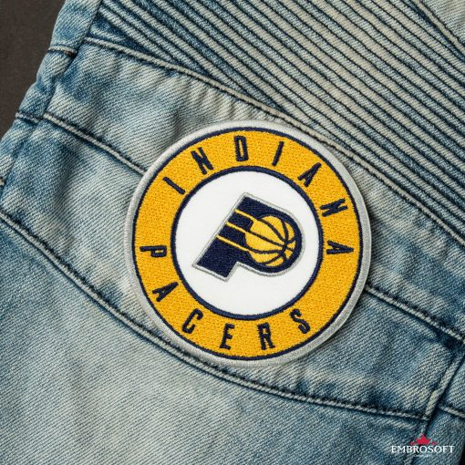 Indiana Pacers NBA Logo patch jeans
