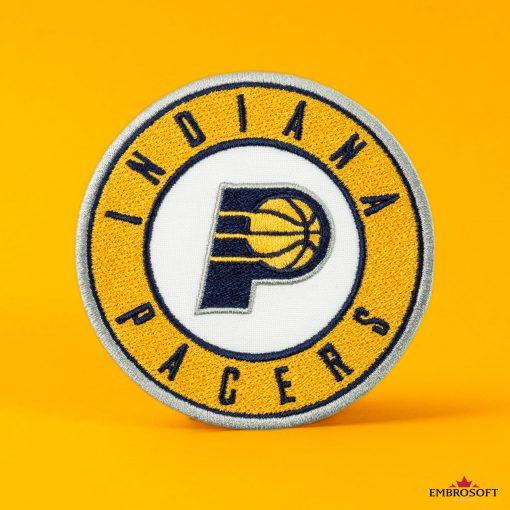 Indiana Pacers NBA Logo patch yellow background