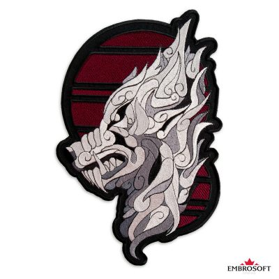 Silver Mystic Wolf Patch
