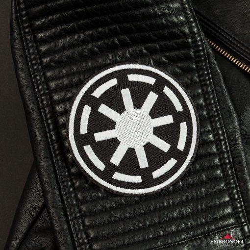 Star Wars Galactic Republic Logo Leather Jacket