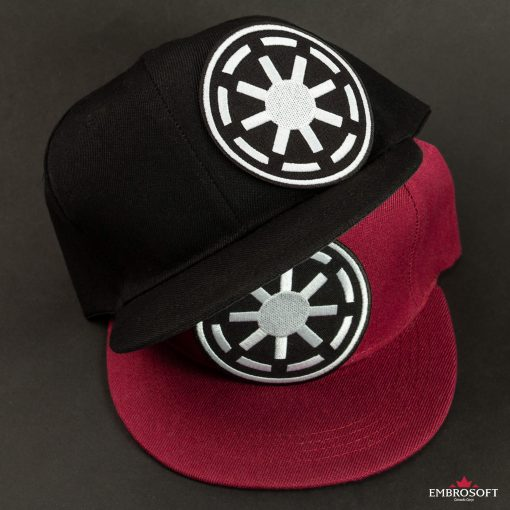 Star Wars Galactic Republic Logo red and black caps