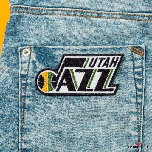 Utah Jazz NBA Logo patch back jeans