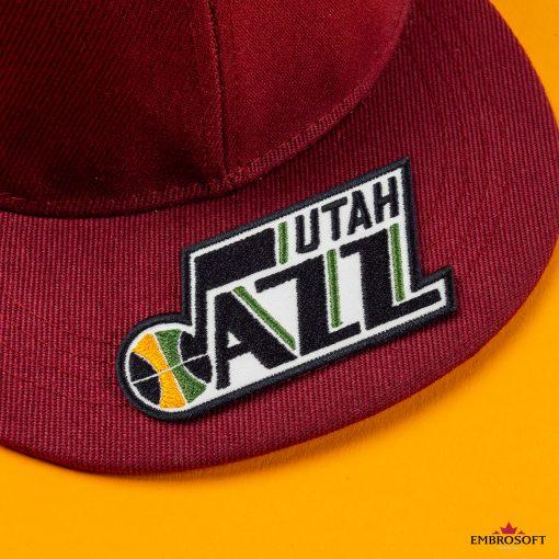 Utah Jazz NBA Logo red cap patches