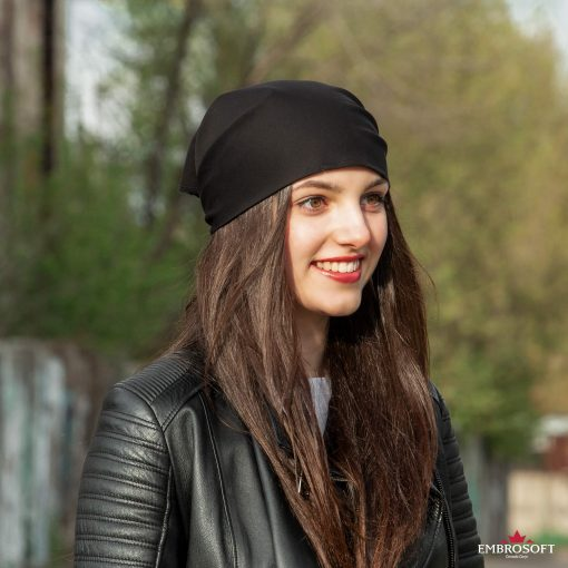 bandana black on the head in profile