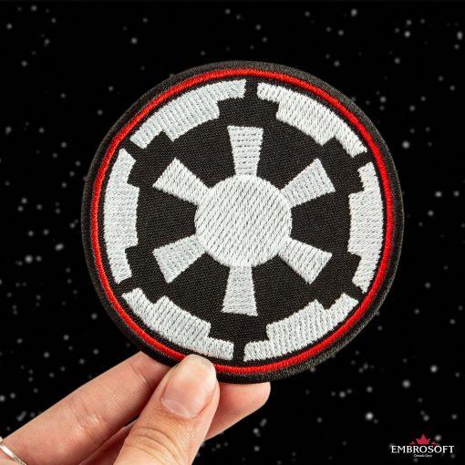 star Wars Galactic Empire Logo starry sky