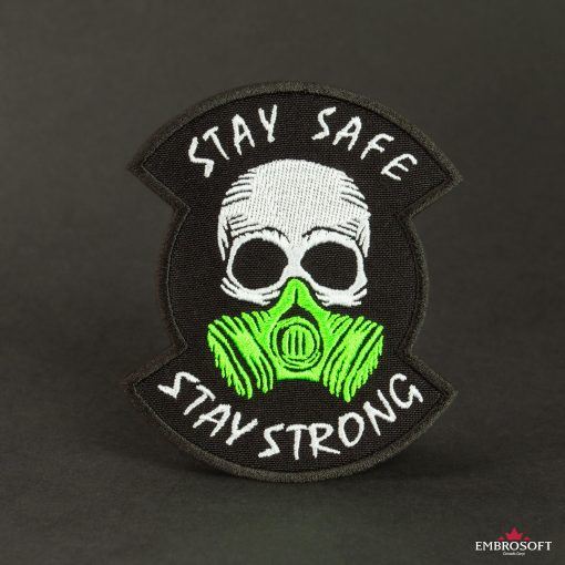 stay safe stay strong black background
