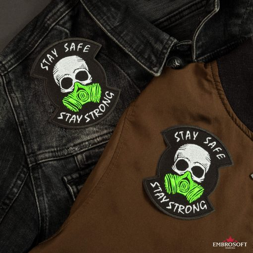 stay safe stay strong jeans jacket and bomber