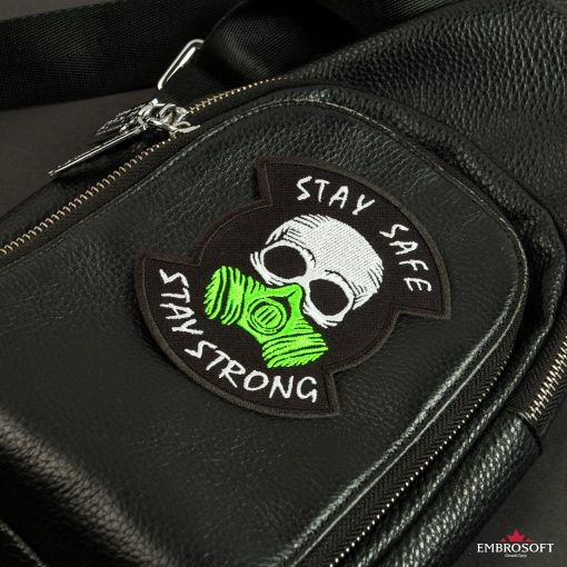 stay safe stay strong leather bag