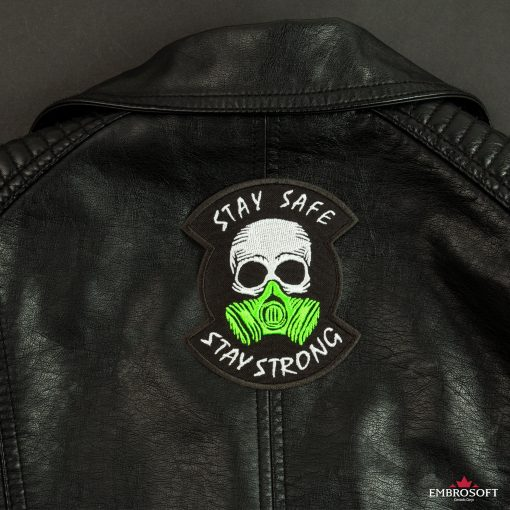 stay safe stay strong leather jacket