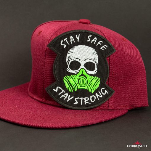 stay safe stay strong red cap