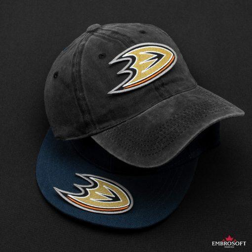 Anaheim Ducks NHL black and blue caps