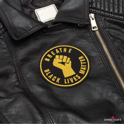 Breathe Black Lives Matter Leather Jacket