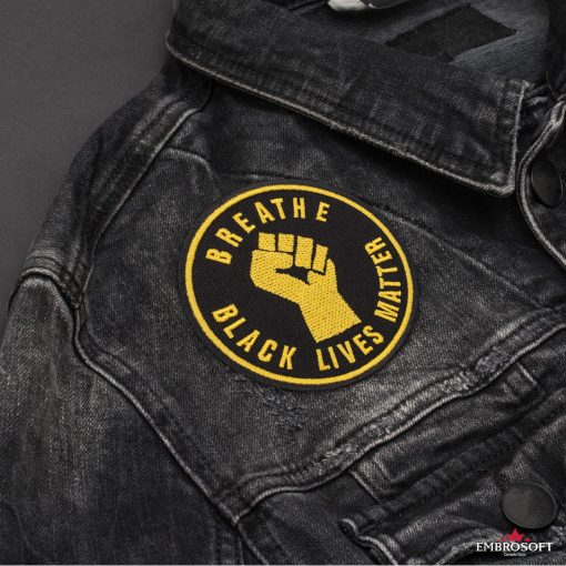 Breathe Black Lives Matter jeans