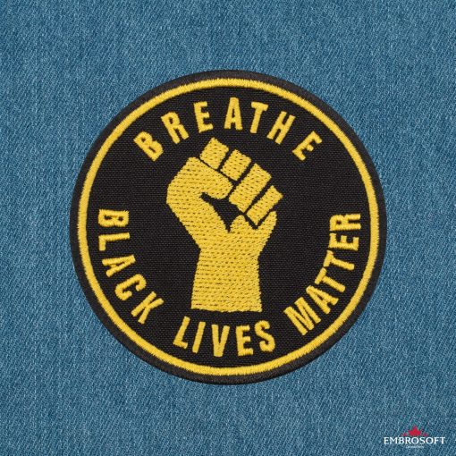 Breathe Black Lives Matter jeans background