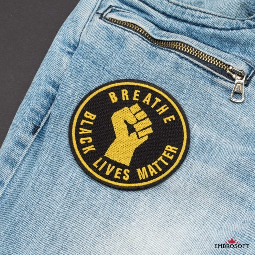 Breathe Black Lives Matter jeans pocket