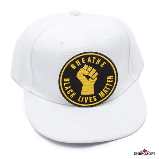Breathe Black Lives Matter white cap