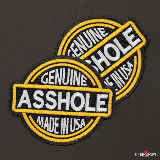 Genuine Asshole Made in USA black background