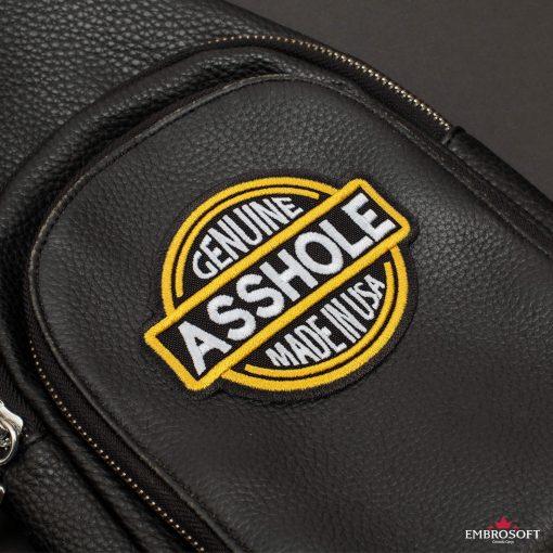 Genuine Asshole Made in USA black bag