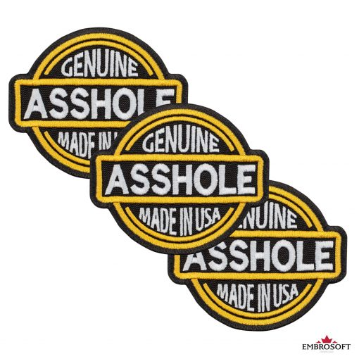 Genuine Asshole Made in USA collage