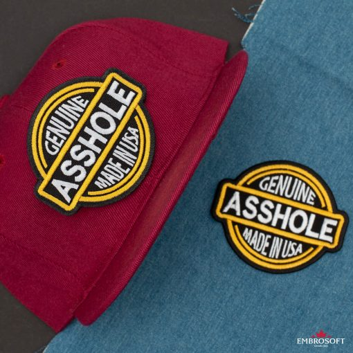 Genuine Asshole Made in USA red cap and jeans