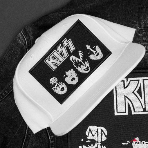 KISS BlackWhite white cap